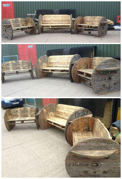 pallet cable drum benches pallet furniture diy pallet