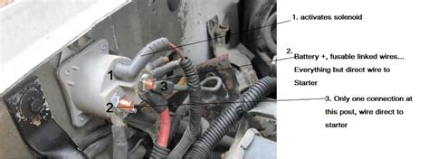 bronco starter solenoid wiring  photo   ford bronco tech support   ford
