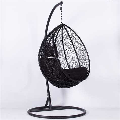 Choose from a large variety of beautifully made egg chair on alibaba.com. Rattan Black Swing Weave Patio Garden Hanging Egg Chair Furniture - La Maison Chic Luxury Interiors