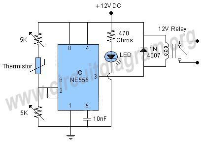 Temperature Control Circuit Schematic Using