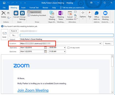 Office 365 Outlook Zoom by Schedule Meetings In Zoom Rooms Outlook Zoom Help Center