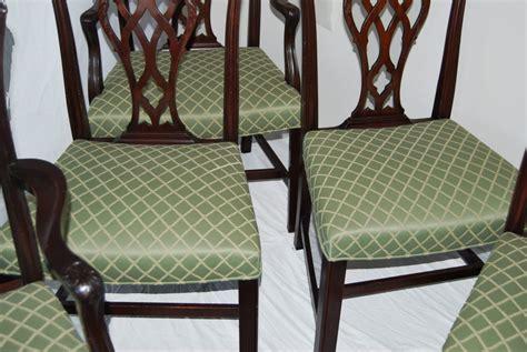 set   english chippendale style mahogany antique