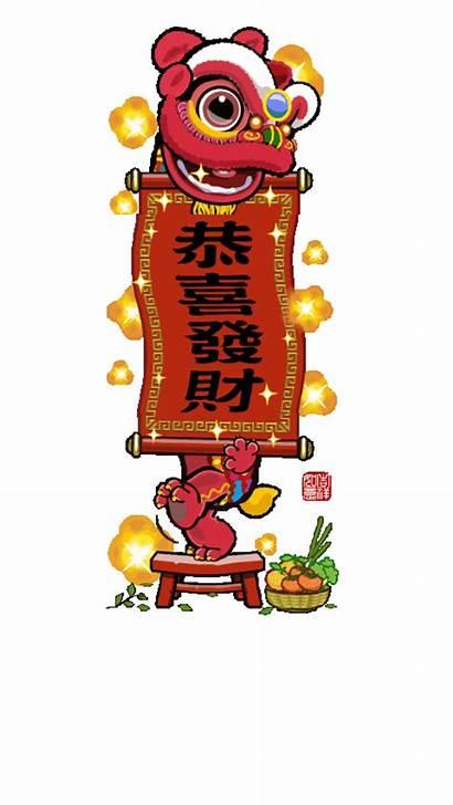 Chinese Dance Lion Tiger Happy Dragon Monkey