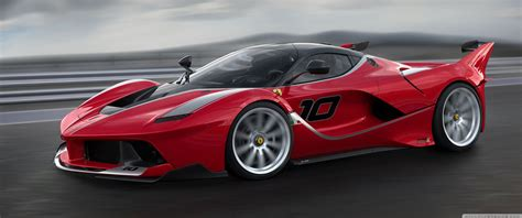 Red Ferrari Fxx K Sports Car High Speed 4k Hd Desktop