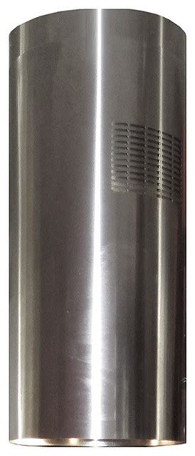 island range hood stainless steel  chimney