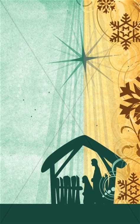 nativity story bulletin cover
