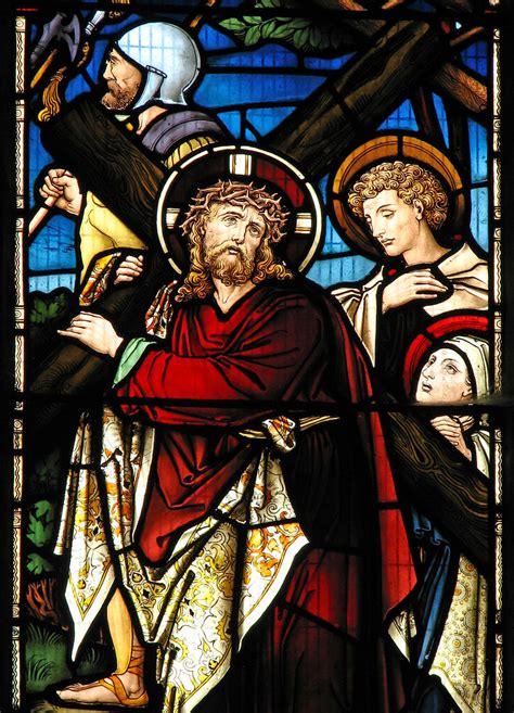 christ carrying  cross  cropredy parish church flickr