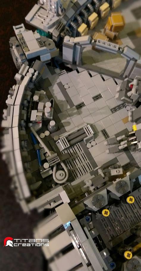 piece lego millennium falcon recreates  ships