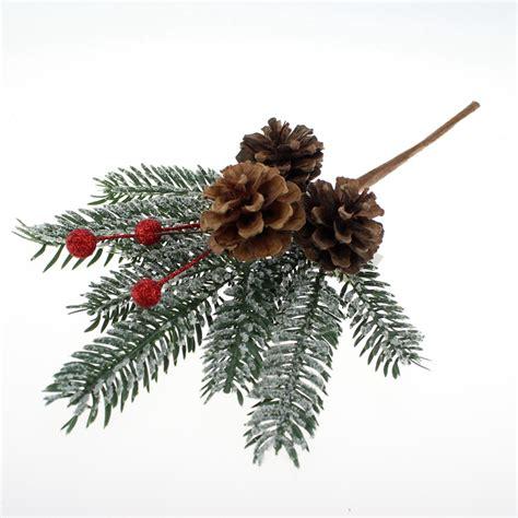 christmas pine cone picks