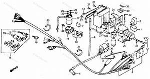 Honda Motorcycle 1983 Oem Parts Diagram For Wire Harness    Battery