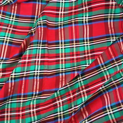 Plaid Christmas Taffeta Table Fabric Holiday Cloth