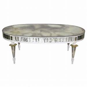 Oval mirrored coffee table at 1stdibs for Oval mirrored coffee table
