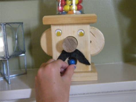 wooden gumball machine  storage unit woodwork  cut
