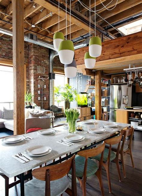 salle  manger style industriel  moderne