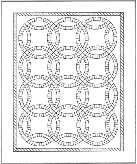 A to Z Kids Stuff   Wedding Ring Quilt Color Page