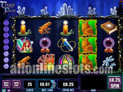 cascading reels slots crystal forest  wms gaming