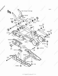 Kawasaki Atv 1995 Oem Parts Diagram For Swingarm