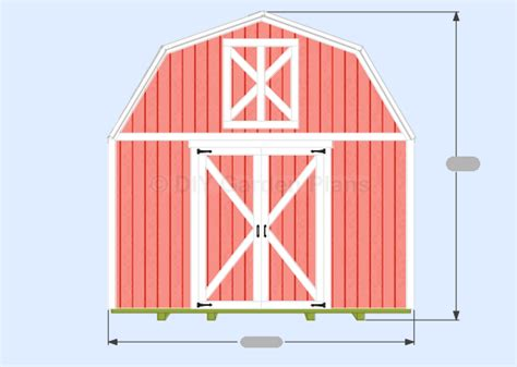 12x16 gambrel storage shed plans denny free access free shed plans 12x16 gambrel
