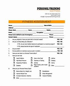 47 assessment form examples free premium templates for Personal training assessment template