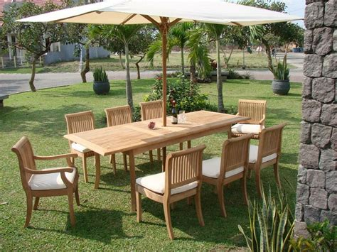 Garden Patio Furniture Sets by 8 Pc Teak Dining Set Garden Outdoor Patio Furniture New