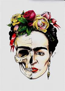 Frida Kahlo Kunstwerk : die besten 25 calavera tattoo ideen auf pinterest calaveras zuckersch delmalerei und sch del ~ Markanthonyermac.com Haus und Dekorationen