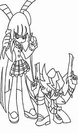 Panty Stocking Drawing Line Deviantart Anime Drawings License Manga sketch template