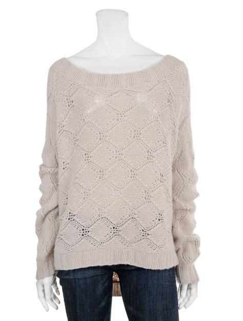inhabit sweaters inhabit backless knit sweater in white lyst