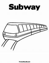Subway Coloring Train Pages Underground Drawing Colouring Template Quilt Railroad Metro Printable Sheets Tunnel Nyc Sketch Station Templates Getcoloringpages Getdrawings sketch template