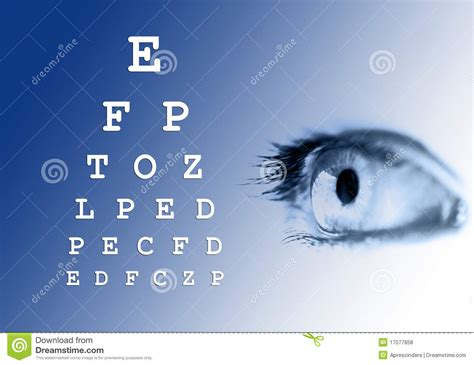 eye vision test stock photo image  letters checkup