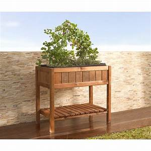 Bac Bois Potager : potager urbain rectangulaire en bois sur pied ~ Melissatoandfro.com Idées de Décoration