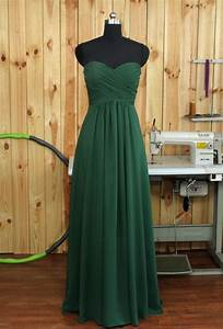 dark green bridesmaid dress chiffon wedding dress With dark green wedding dress