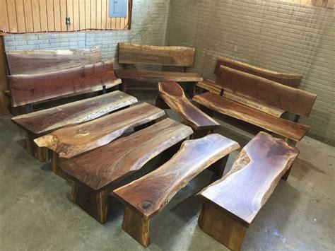 custom handmade wooden benches dumonds custom furniture