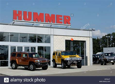 Hummer Dealership Exterior Stock Photo