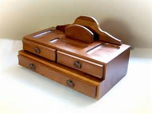 vintage dresser valet mens jewelry box desk by thewhitepelican
