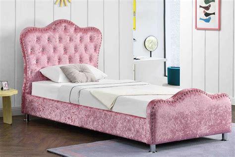 Windsor Single Storage Princess Bed Frame Pink Crushed