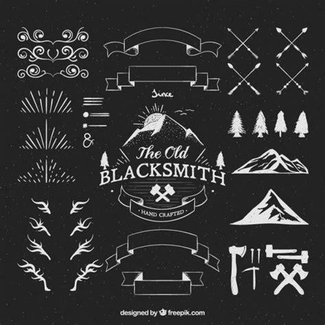 hipster logos adornos descargar vectores gratis