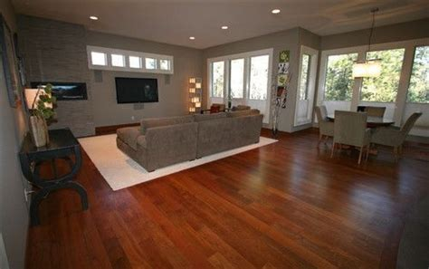 grey walls with brazilian cherry floor the floors we have