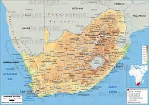 carte namibie afrique du sud