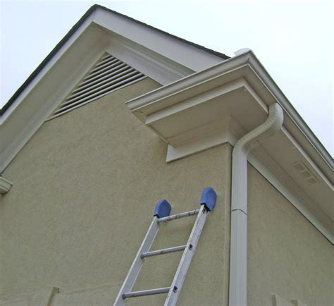 Roof Cornice - eave return with gutter traditional cornice returns