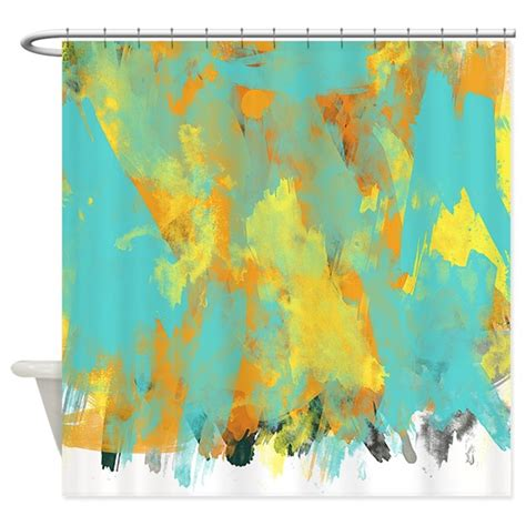 abstract watercolor shower curtain by littlebugdesigns