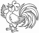 Rooster Coloring Printable Animals Colouring Passo Birds Crowing Morning Pintura Riscos Bird Printcolorcraft Galinhas Muitas Tecido Dicas Fazer Como Popular sketch template