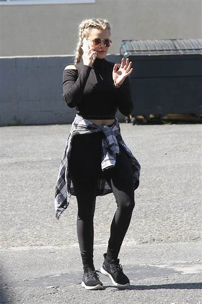 Carson Dwts Witney Rehersal Arrives Angeles Los