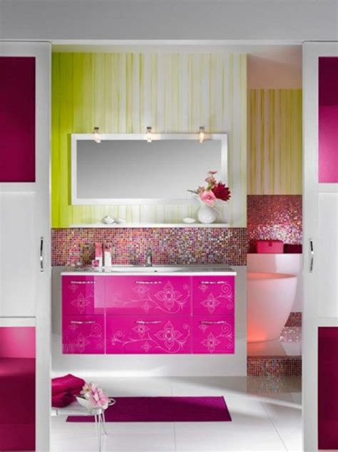 Colorful Bathroom Vanity by 43 Bright And Colorful Bathroom Design Ideas Digsdigs