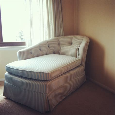 chaise but small skirted striped chaise lounge chair for bedroom