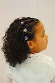 Mixed Little Girl Hairstyles Curly Hair