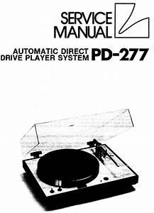 Luxman Pd-277 Turntable   Original Service Manual