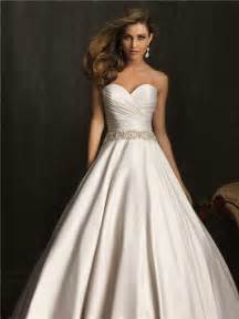 wedding dress satin simple exquisite gown strapless ruched beaded satin wedding dress