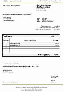 Kfz Steuer Mahnung Ohne Rechnung : wie muss die rechnung aussehen wenn man kleinunternehmer ~ Themetempest.com Abrechnung
