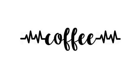 Coffee Heartbeat Svg Heart Ekg Svg Coffee Mug Svg Coffee