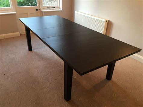 Ikea Esstisch Schwarz by Ikea Stornas Extendable Dining Table Brown Black Seats